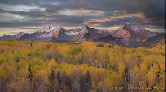 Fall colors explode over the Rockies